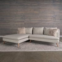 2-pc Stonewash Marco Modern Grey Sofa Sectional by RST Brand Alexandria, 22314