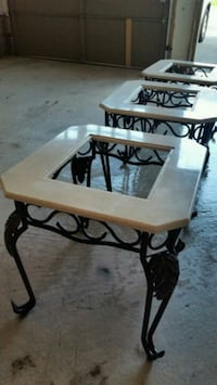 4 piece Marble coffee table set  Brampton, L6R 0A8