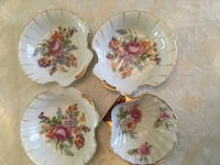 white and pink floral ceramic plate Clementon, 08021
