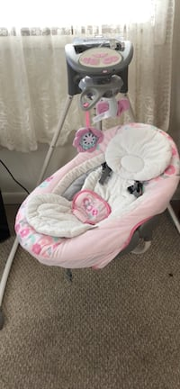 baby's pink and white bouncer Dunbar, 25064