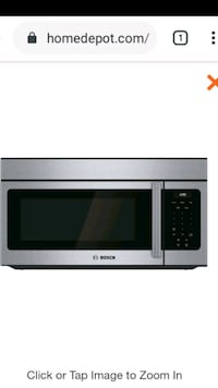 Bosch over the range 300 series microwave