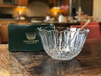 Punch bowl - cut crystal punch bowl w silver plate ladle LIKE NEW IN BOX  Vienna, 22180