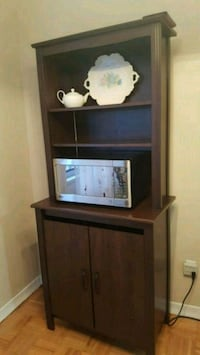 brown wooden framed glass display cabinet Hamilton, L9A 1R7