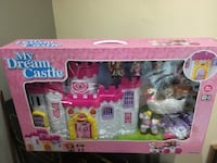 white and pink My Dream Castle toy box