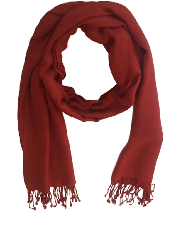 New Indian Stole Scarf Neck Wrap Viscose Shawl with Cosmetic Pouch, Coral e9538c67-c66a-405b-b3c1-676ed52f489e