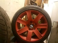 red BMW 5-spoke wheel with tire Bremerton, 98312