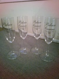 Set of 4 Palace Casino Wine Goblets 899 mi