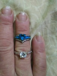 Blue hearta afire size6 $50 engagement ring $75