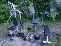 gray and black weight bench Pompano Beach, 33064