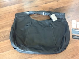 Ralph Lauren black Leather Hobo bag