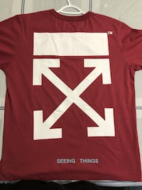 Off white maroon t-shirt Vaughan