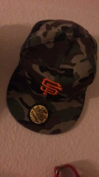 Black and gray camouflage fitted cap Rancho Cordova, 95670