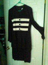 black and white long-sleeved dress Madison Heights, 48071