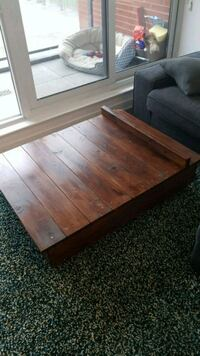 rectangular brown wooden coffee table Toronto, M5A 3H6