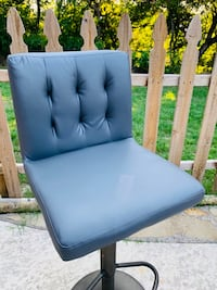 Grey Leather and  Metal High Chair NEW