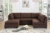 CLEARANCE] Mixology Brown 5-Piece Modular Sectional Houston, 77036
