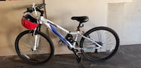 White and blue hard tail mountain bike Calgary, T2A 3V4