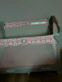 black and pink floral travel cot Houma, 70364