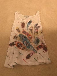 white and red floral tank top 42 km
