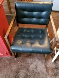 Brown,Black Padded Chair