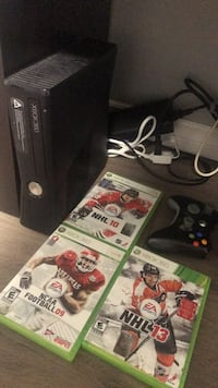 Xbox 360 with three games and controller  Calgary, T2J 5K3