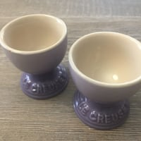 Le Creuset Provence Pair of New Stoneware Egg Cups Washington, 20001