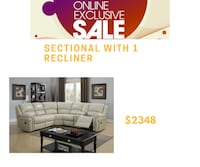 white and black sectional couch Brampton