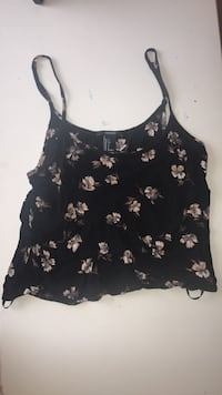 black and white floral spaghetti strap top Gainesville, 20155
