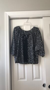 EUC Black/White Spotted Blouse Clarksburg, 20871