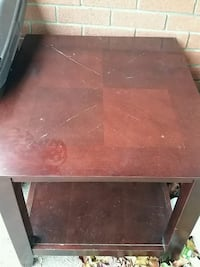 rectangular brown wooden coffee table Toronto, M9M 1W9