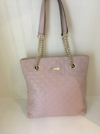 Calvin Klein NY pink leather bag