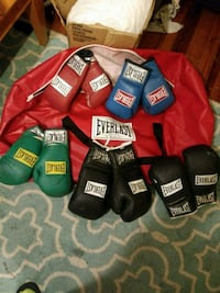 Everlast boxing gloves (5pair) and bag Wellford