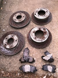 Drilled slotted rotors and brake pads for Mitsubishi 3G eclipse 2000-2005 Philadelphia, 19103