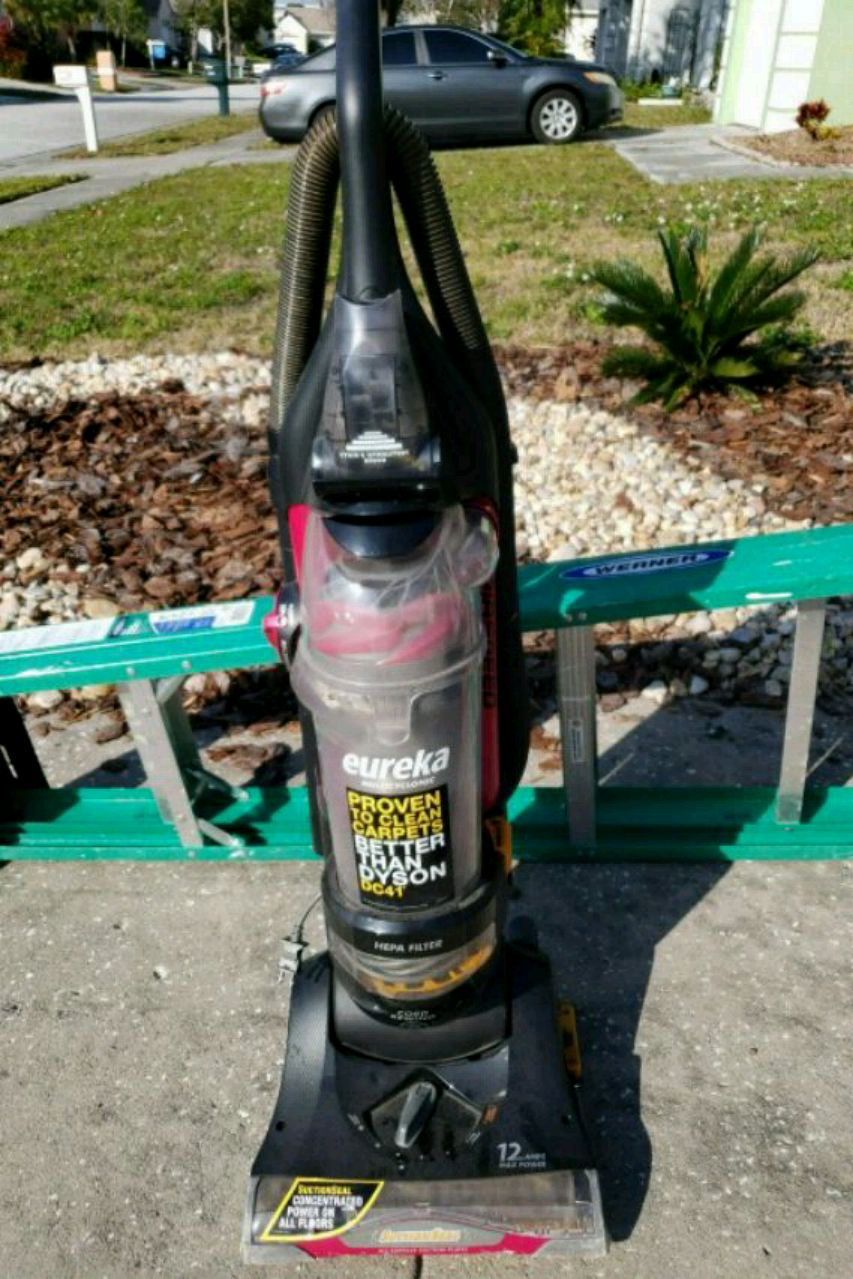 black and red Eureka upright vacuum cleaner for sale  Largo