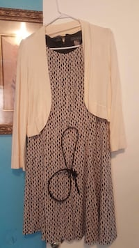 Dress with sweater & belt size: 14p Erie, 16505