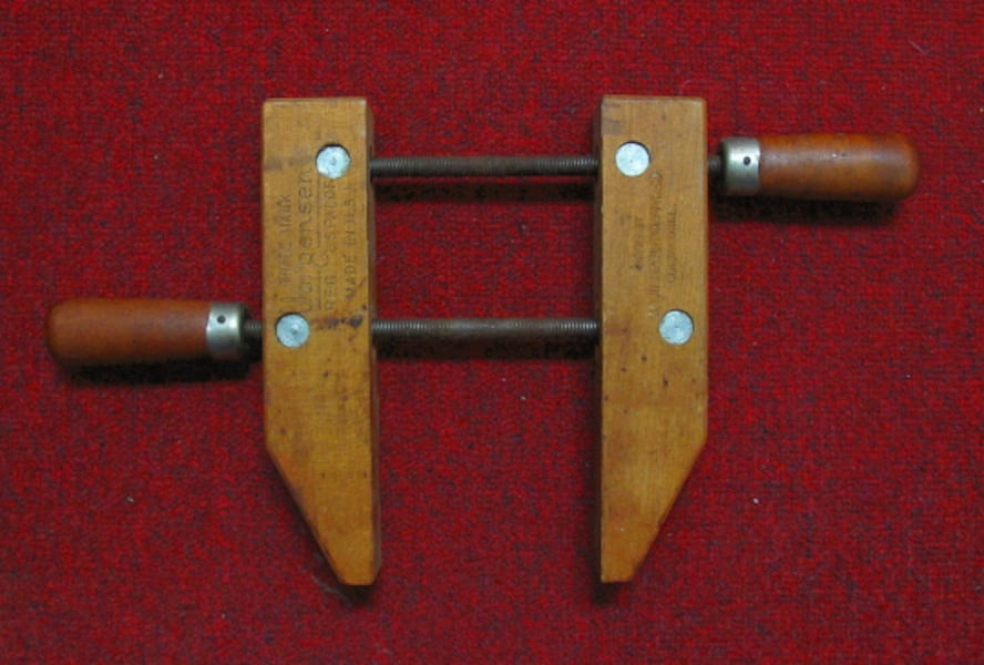 Vintage Jorgensen 8-Inch Wood Clamp a9a90ccb-0bfd-41c3-8bea-8bd643663195