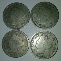 four round silver coin collection Los Angeles, 91342