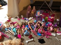 Bin of Barbie Dolls and Accessories Ajax, L1S 1J3