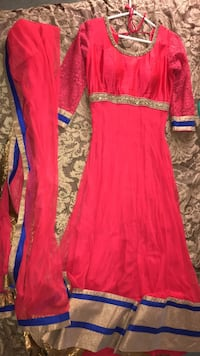 Red gown Indian dress lehenga lengha for sale