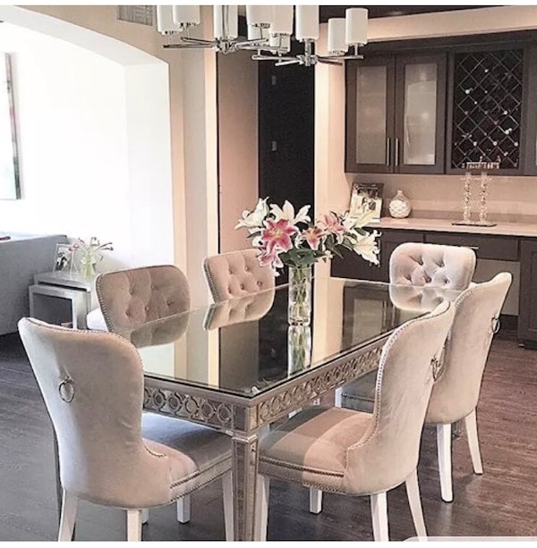 Used Z Gallerie Sophie Mirror Dining Table For Sale In Atlanta Letgo