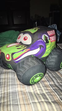 black and green monster plush toy null