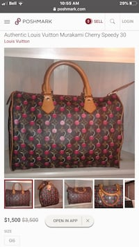 Authentic lv cherry speedy30 limited edition