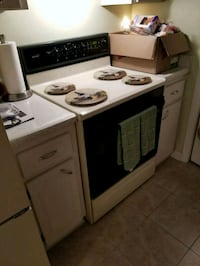white and black electric coil range oven Tampa, 33611