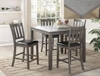 Cosgrove Rustic Gray 5-Piece Counter Height Dining Set | 2761 Houston, 77019