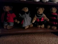Six inch collectable plush bears
