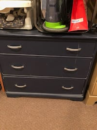 navy three drawer cabinet 785 km