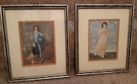 """Vintage 11"""" x 13"""" Prints Blue Boy & Lady $15 each or the pair for $25  Pick-up in Newmarket   (ref # shelf 7) Newmarket"""