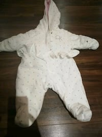 Baby's white and pink footie Oakville, L6H 7M6