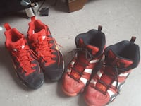 pair of red-and-black athletic shoes Jersey City, 07304