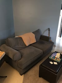 Grey, microfibre couch Burlington, L7R 2R7